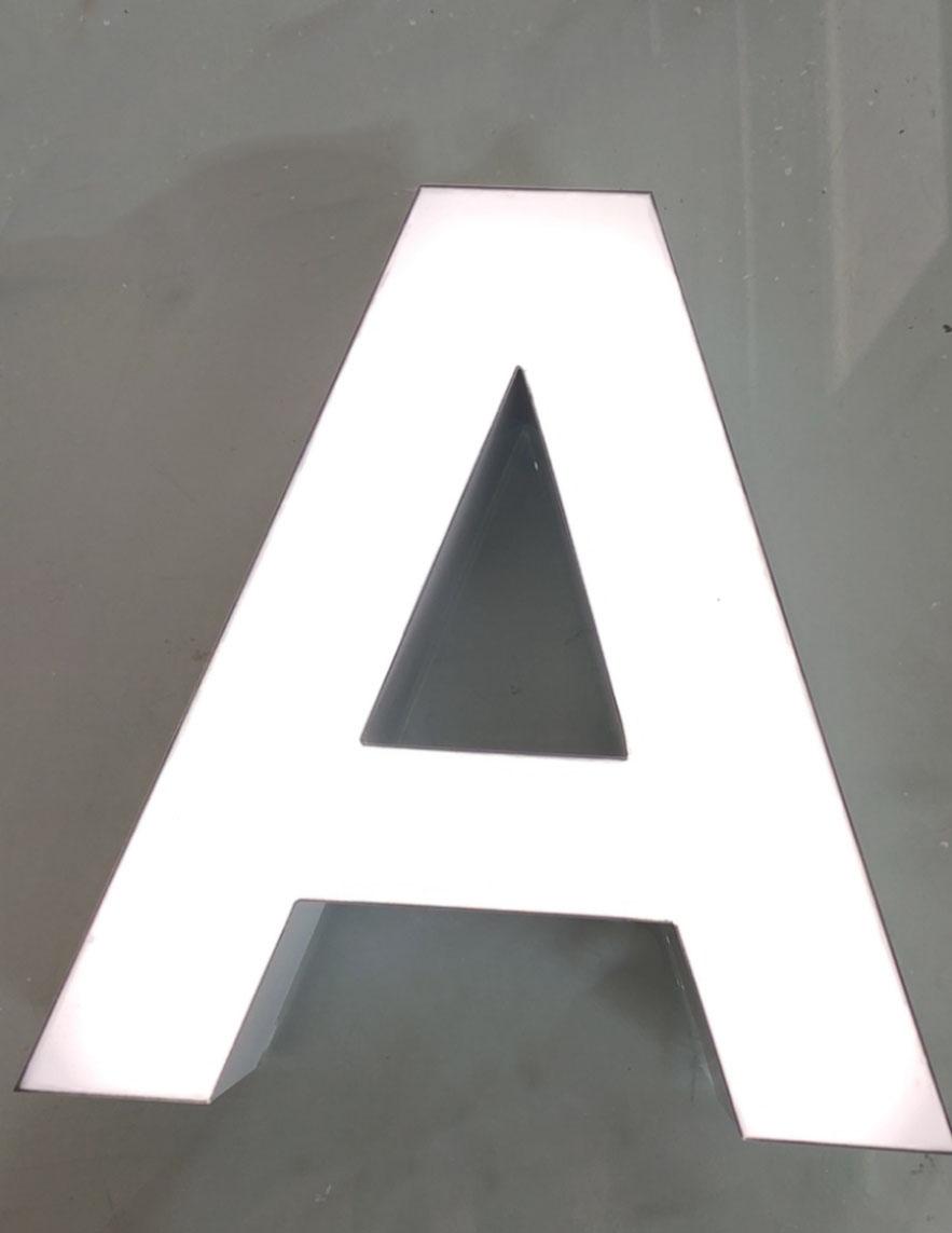 无边字无边发光字无边字制作